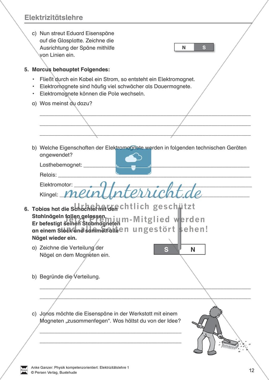Elektrizitätslehre / Magnetismus: Magnetkräfte, Magnetfelder und die ...
