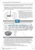 Elektrizitätslehre / Magnetismus: Test / Lernzielkontrolle zu Elektrostatik, elektrischen Storm und Stromkreisen und Magnetkräften und - feldern mit Lösungen. Preview 4