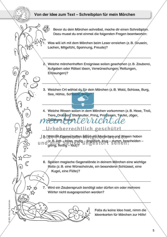 Schreibideen entwickeln, Schreibplan Preview 1
