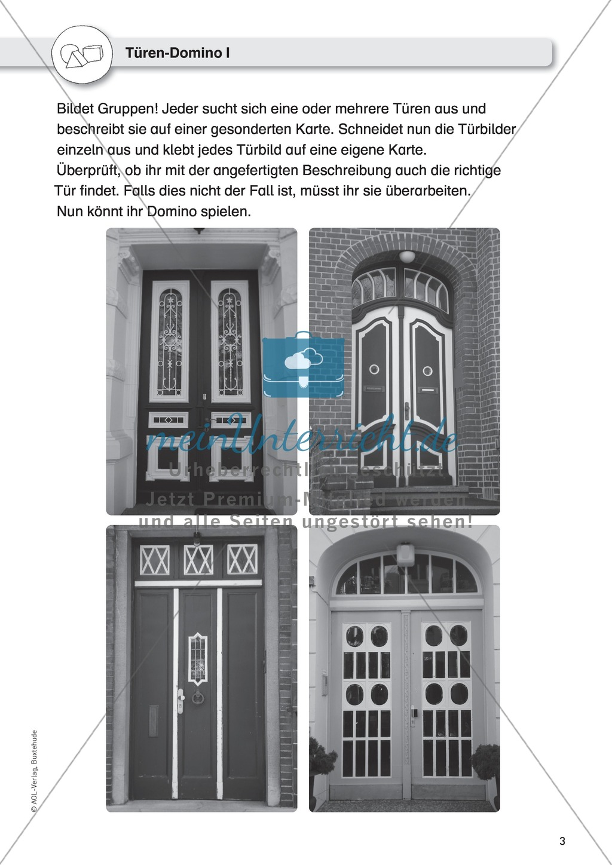 Gegenstandbeschreibungen als Schreibanlass: Türen beschreiben mit dem Türen-Domino Preview 0