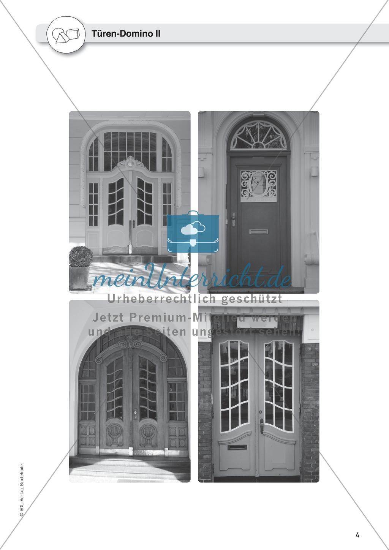 Gegenstandbeschreibungen als Schreibanlass: Türen beschreiben mit dem Türen-Domino Preview 1
