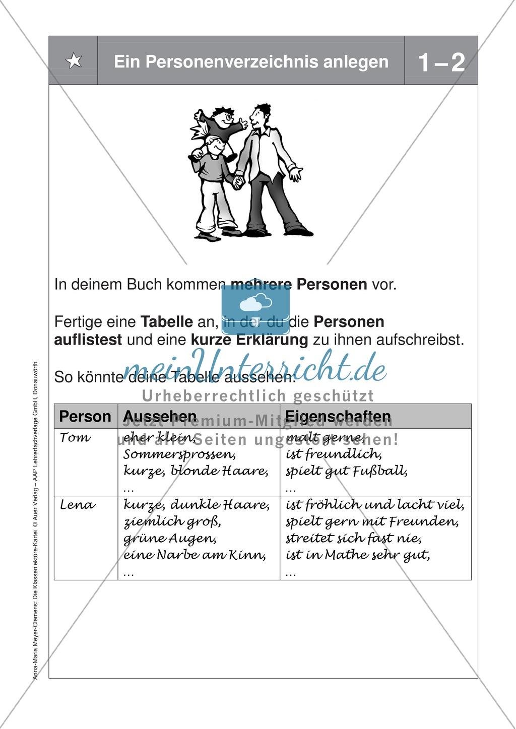Übungen zur Klassenlektüre: Arbeitskarteikarten zum besseren Verstehen eines Buches + Arbeitsplan und Reflexionsbogen Preview 12