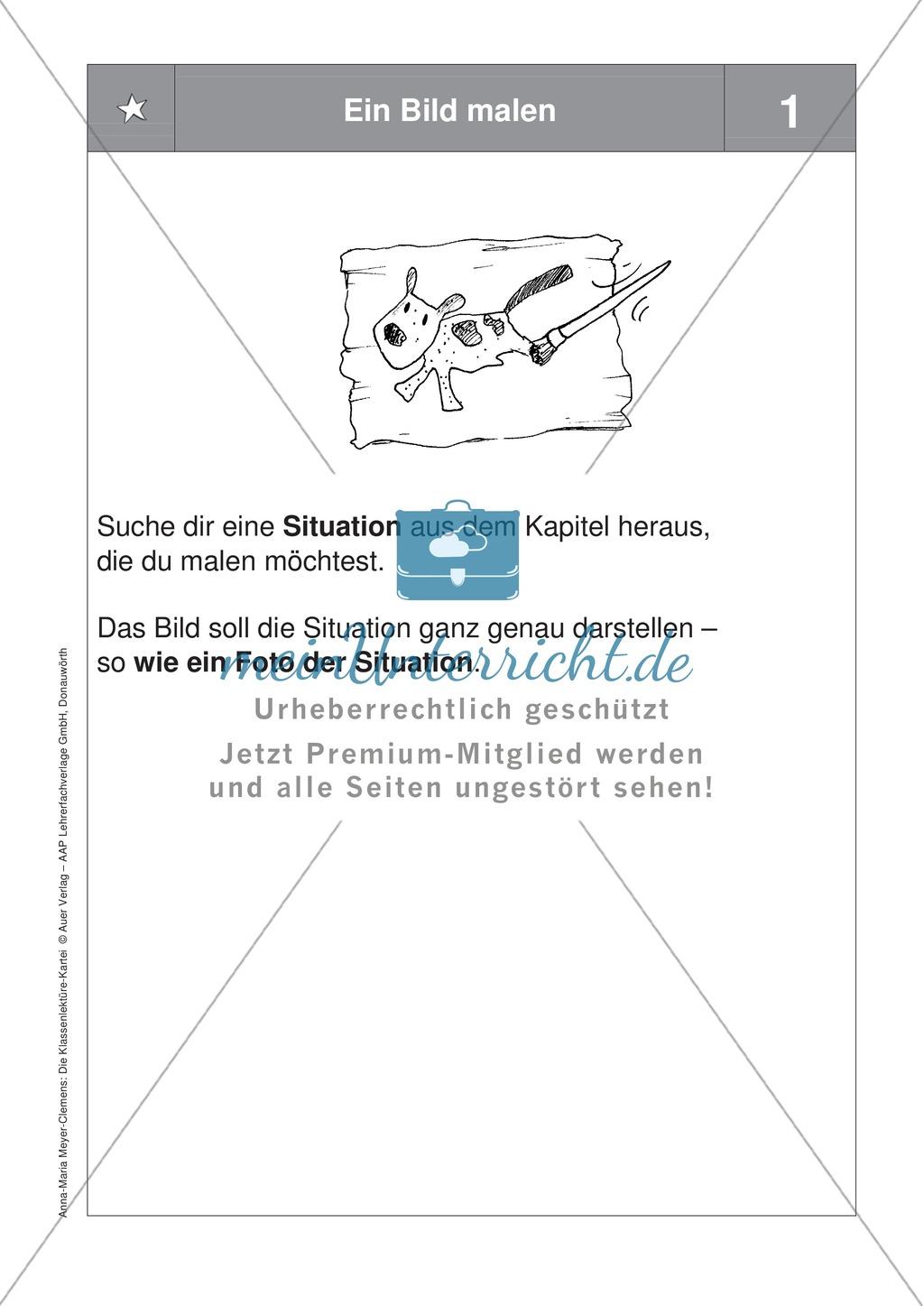 Übungen zur Klassenlektüre: Arbeitskarteikarten zum besseren Verstehen eines Buches + Arbeitsplan und Reflexionsbogen Preview 4