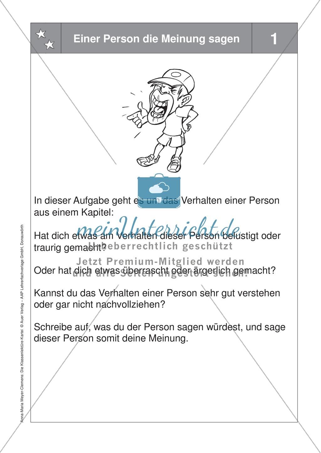 Eine Lektüre lesen: Aufgaben zur Personencharakteristik + Reflektionsbogen Preview 0