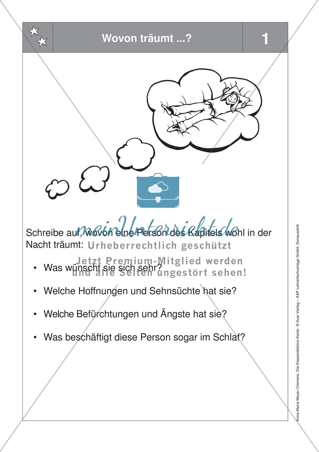 Eine Lektüre lesen: Aufgaben zur Personencharakteristik + Reflektionsbogen Preview 1