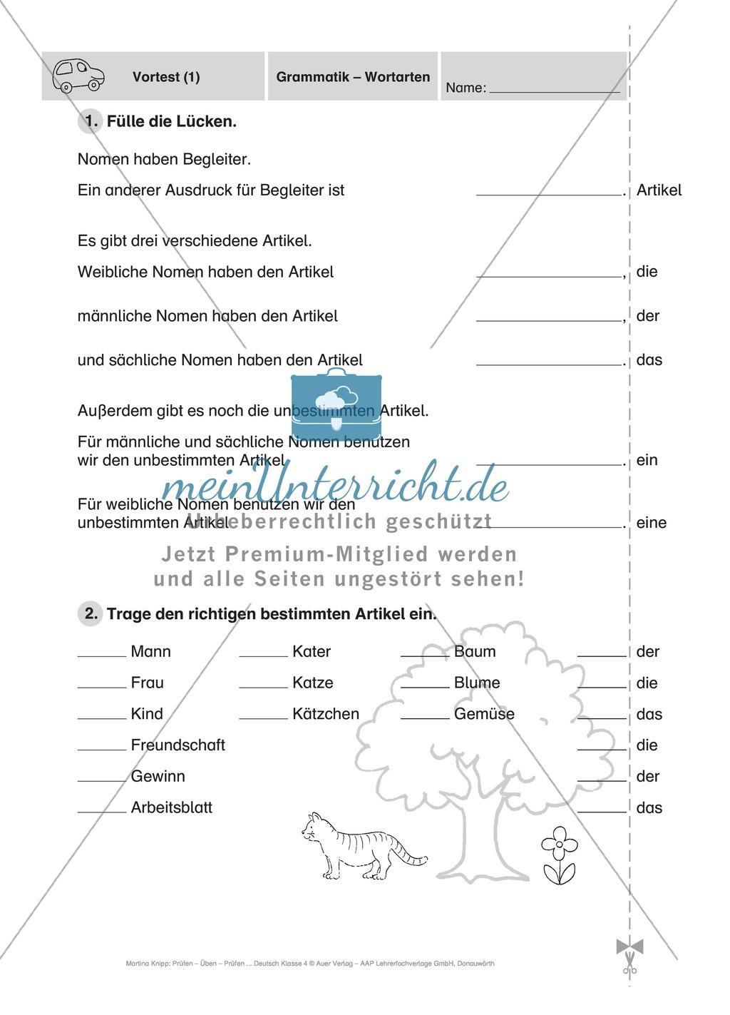 Führerschein für die deutsche Sprache in der 4. Klasse ...