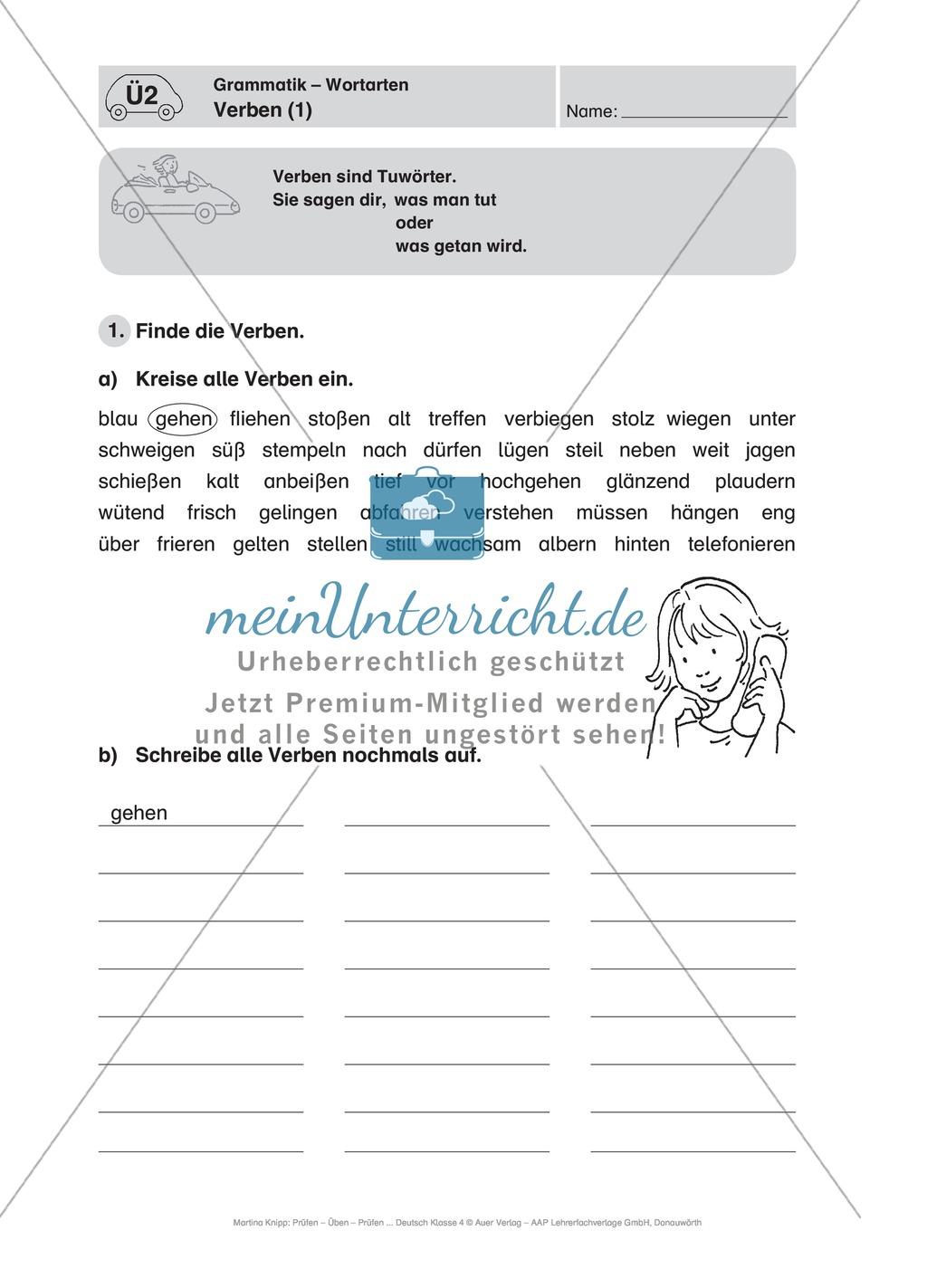 Führerschein für die deutsche Sprache in der 4. Klasse: Stationenübungen für die Bearbeitung des Fahrschultestes. Preview 6