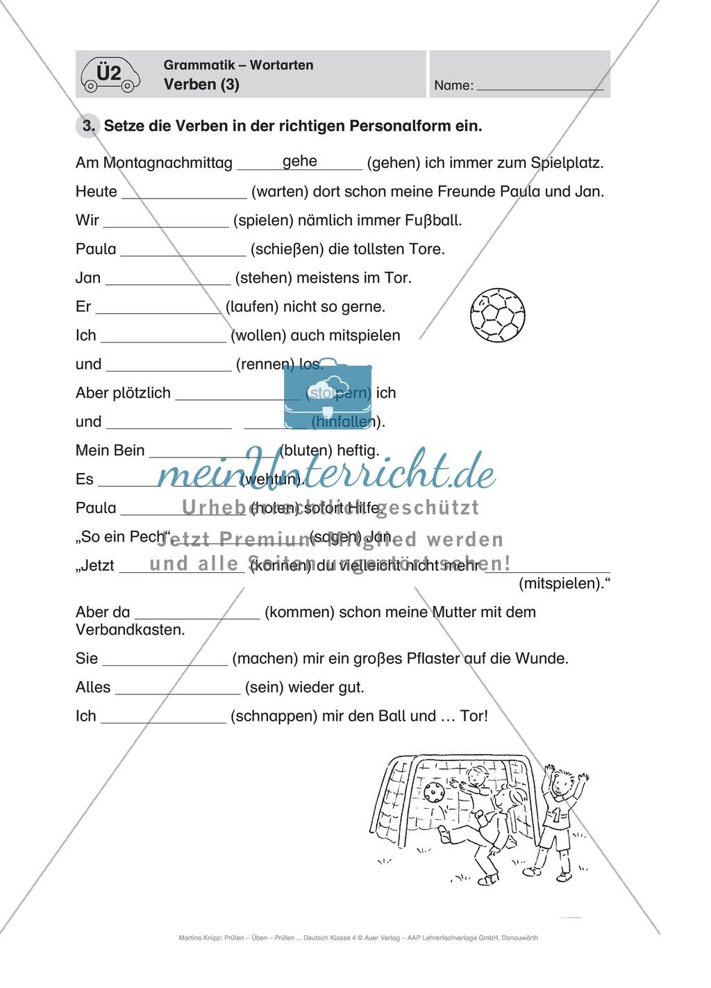 Führerschein für die deutsche Sprache in der 4. Klasse: Stationenübungen für die Bearbeitung des Fahrschultestes. Preview 8