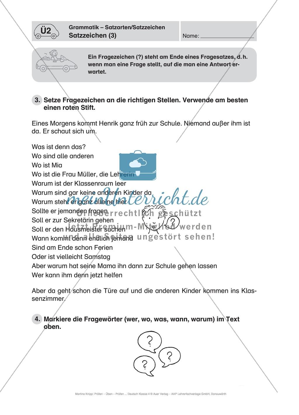 deutschfahrschule 220bungen zu satzzeichen meinunterricht