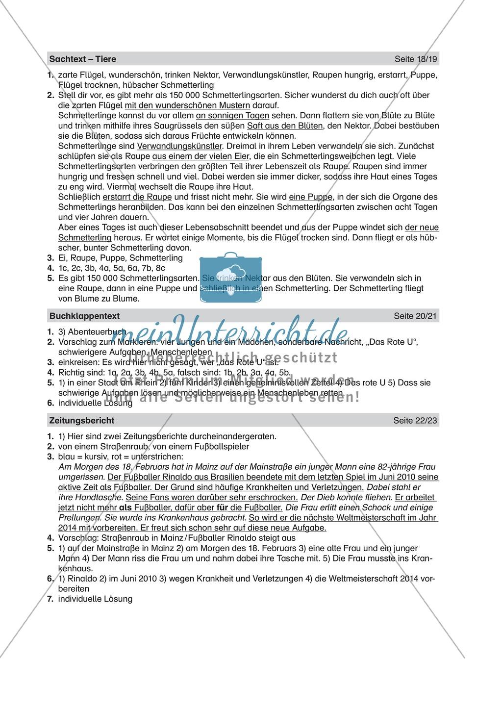 Informierende Texte lesen und verstehen: Einen Buchklappentext erschließen Preview 2