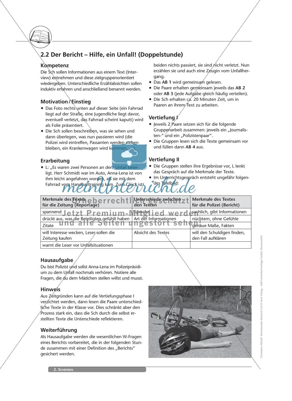 Schreibkompetenzen entwickeln: Der Bericht Preview 0