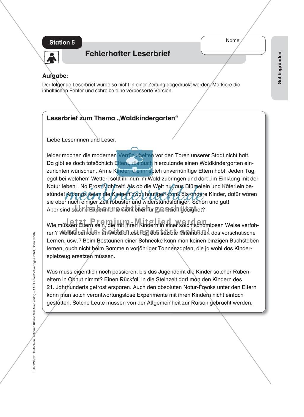 Standpunkte analysieren und vertreten: Streitgespräch, Rollenspiel, Leserbrief Preview 2