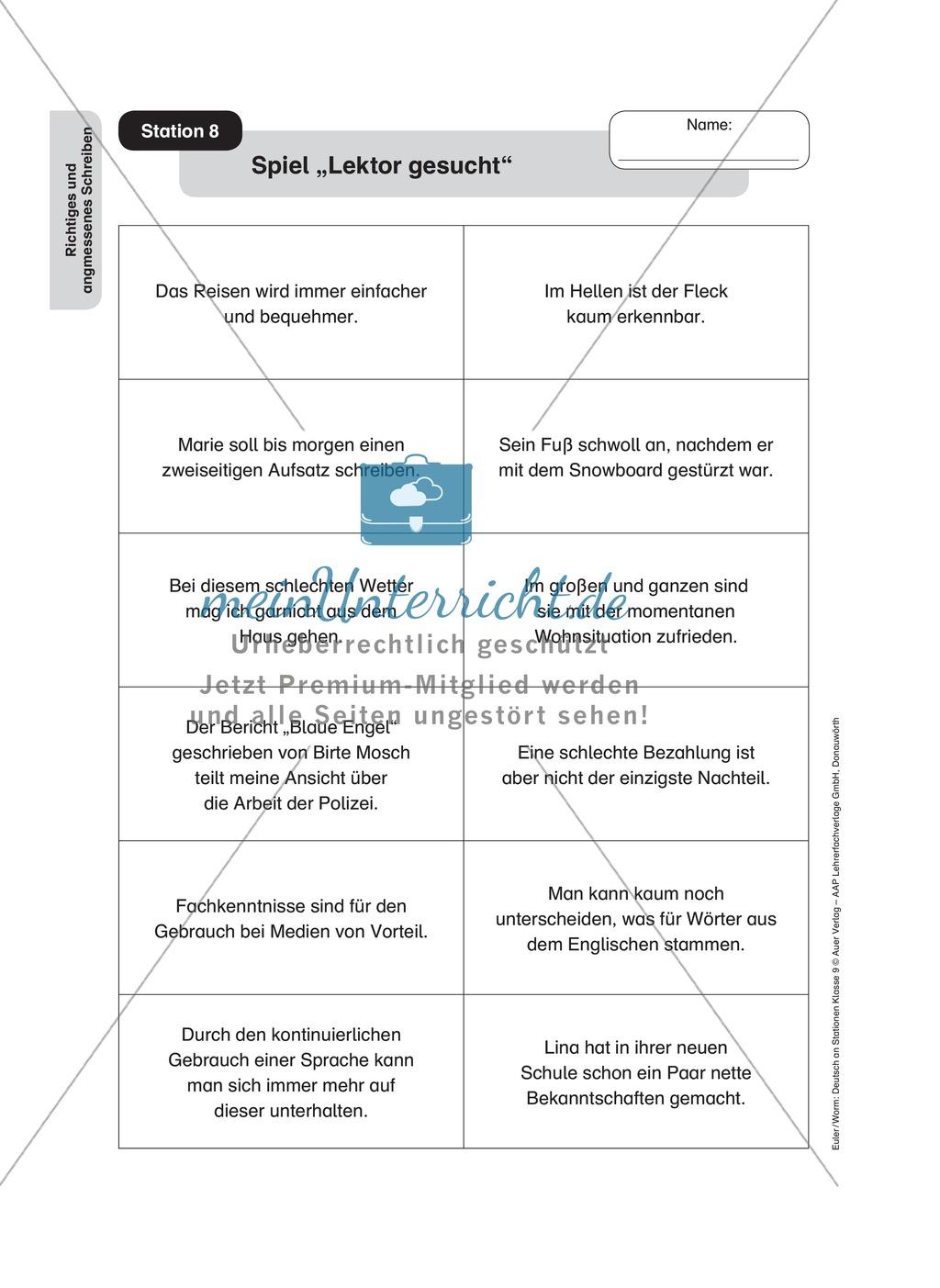 Stationenlernen zum richtigen und angemessenen Schreiben Preview 11