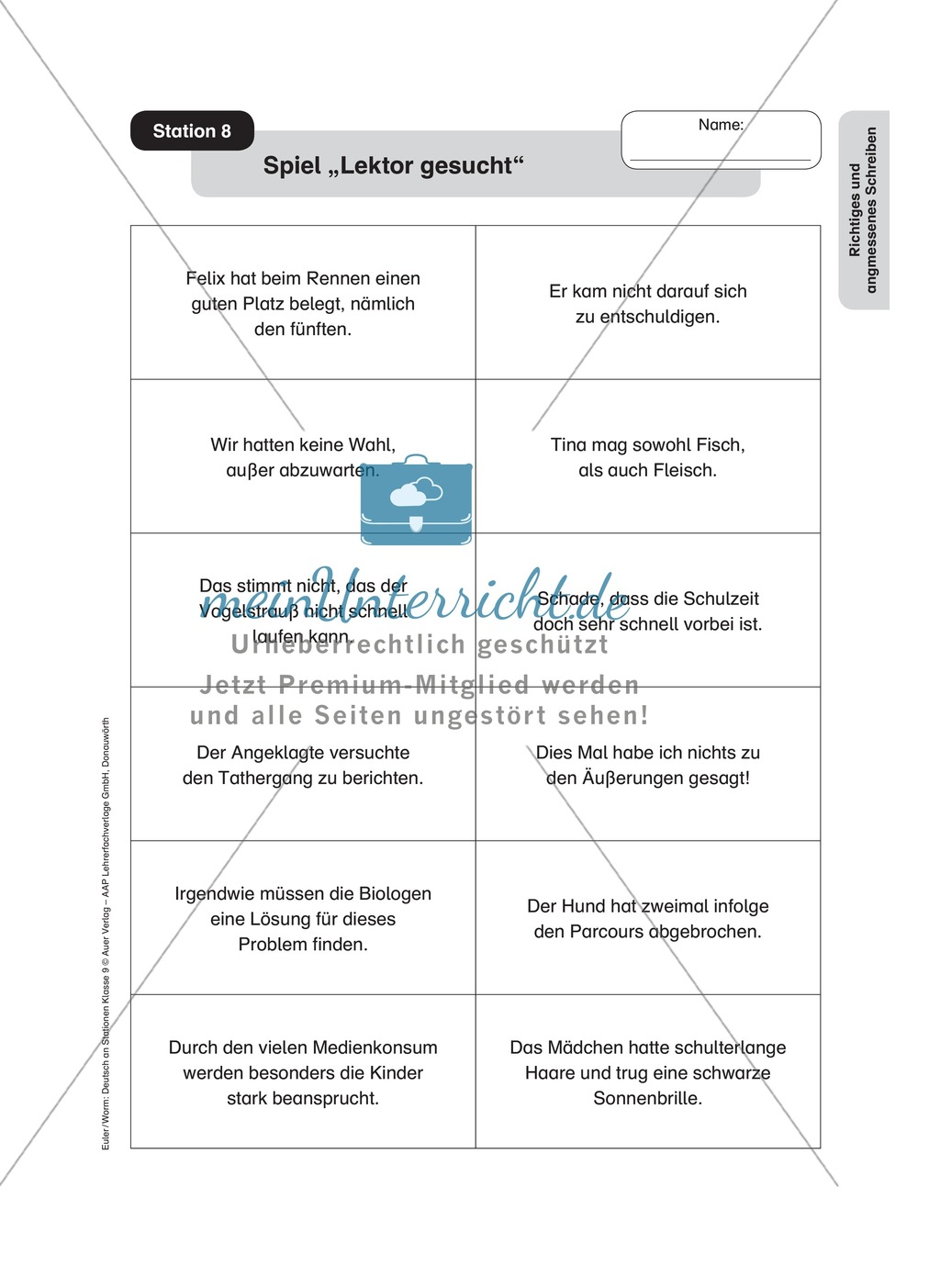 Stationenlernen zum richtigen und angemessenen Schreiben Preview 12