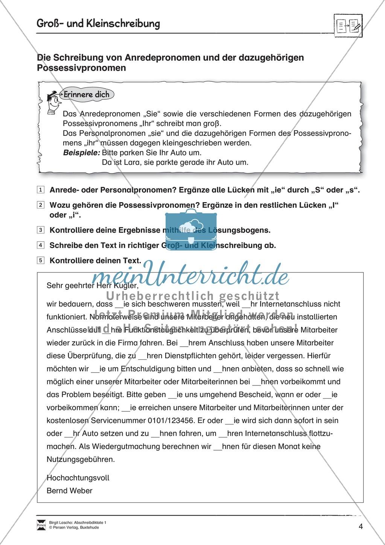 Abschreibdiktate: Groß- und Kleinschreibung + Lückentext Preview 3