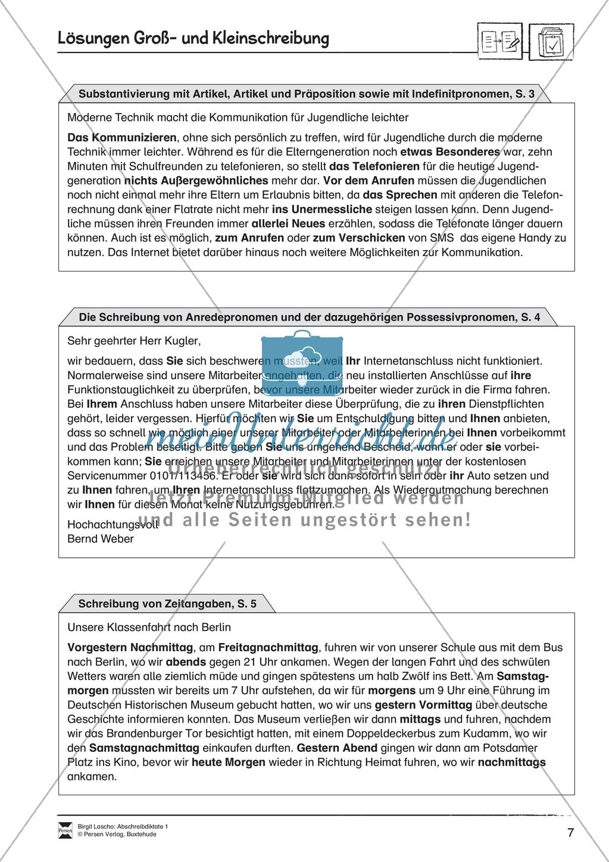 Abschreibdiktate: Groß- und Kleinschreibung + Lückentext Preview 6