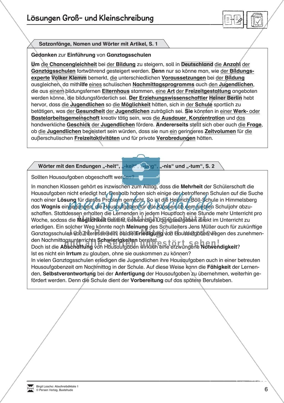 Abschreibdiktate: Satzanfänge + Nomen und Wörter mit Artikel Preview 1