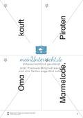 Wortkarten für Rollbrett-Sätze (Lese-Bewegungsziel) Preview 1