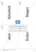 Wortkarten für Rollbrett-Sätze (Lese-Bewegungsziel) Preview 6