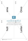 Wortkarten für Rollbrett-Sätze (Lese-Bewegungsziel) Preview 8