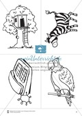 Silbenzählen mit Bild- und Wortkarten: phonologische Bewusstheit, Wortdurchgliederung Preview 4