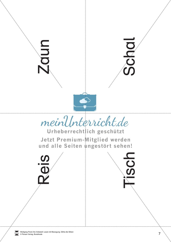 Silbenzählen mit Bild- und Wortkarten: phonologische Bewusstheit, Wortdurchgliederung Preview 7