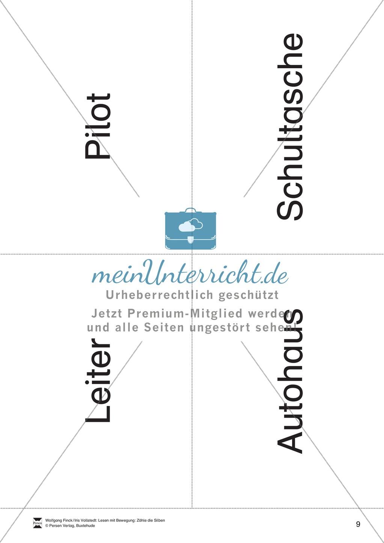 Silbenzählen mit Bild- und Wortkarten: phonologische Bewusstheit, Wortdurchgliederung Preview 9