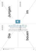 Wortkarten für das Lese-Bewegungsspiel