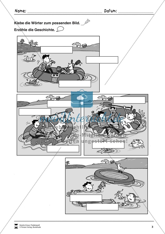 """Sehen und Beschreiben - Bildergeschichten zum Thema """"Paddelspaß"""" Preview 3"""