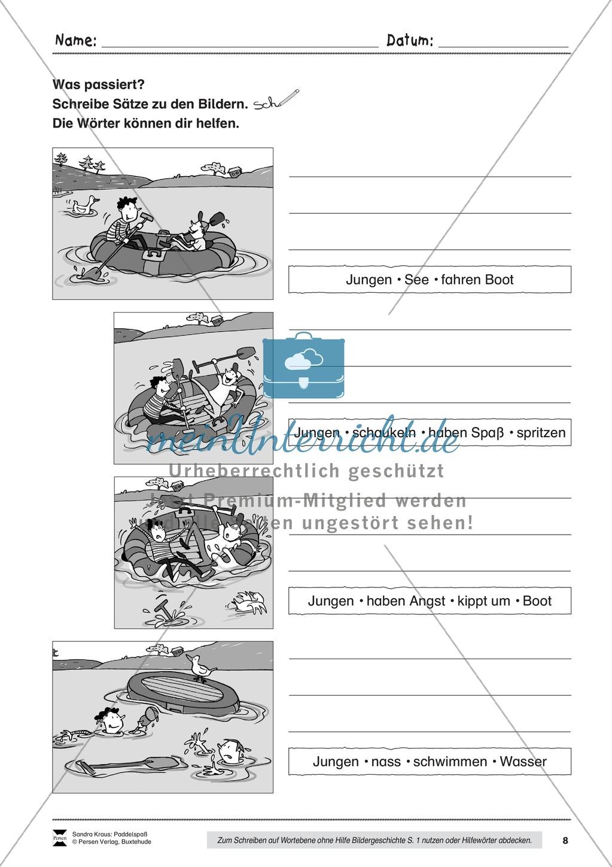 """Sehen und Beschreiben - Bildergeschichten zum Thema """"Paddelspaß"""" Preview 8"""