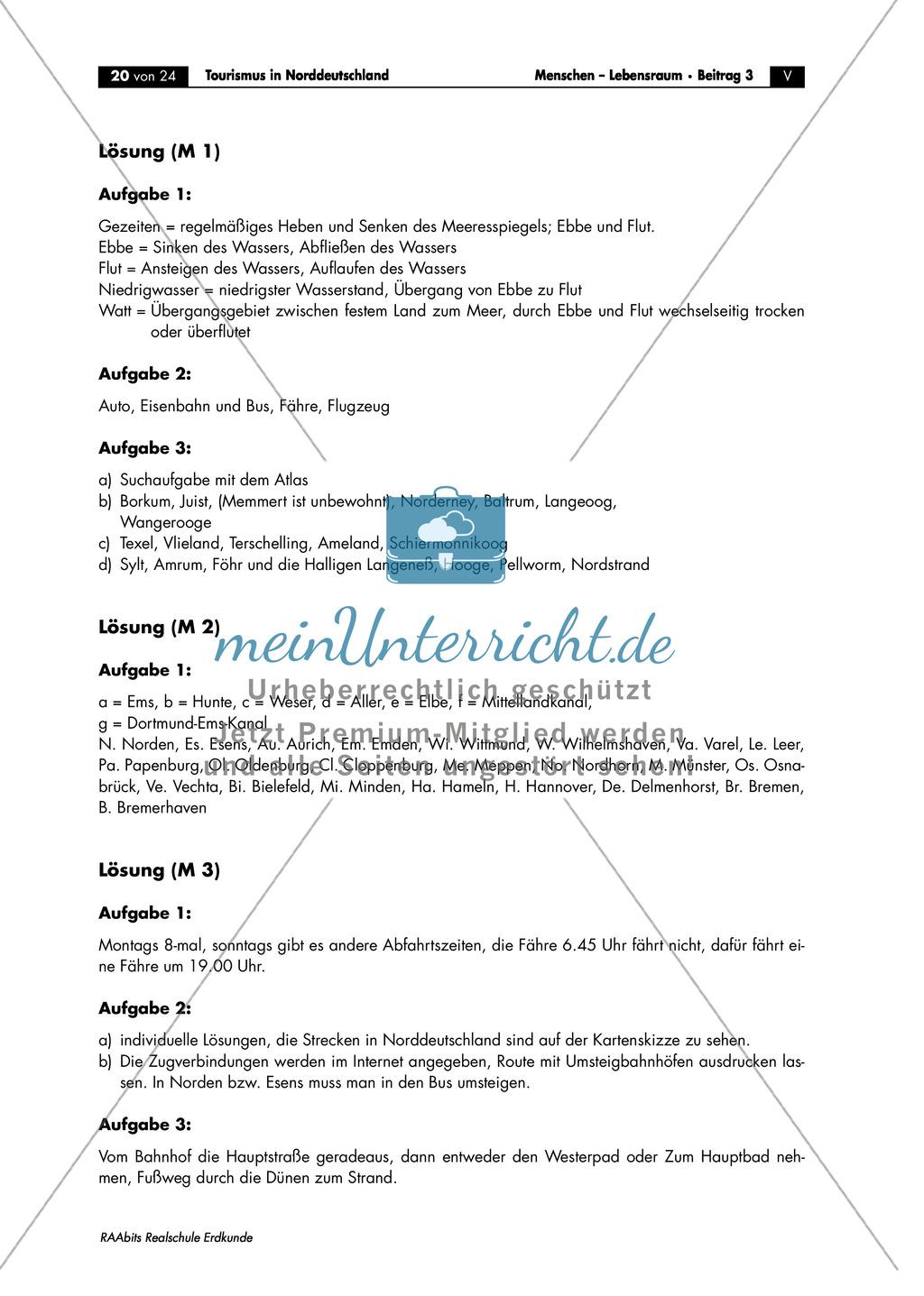 Tourismus in Norddeutschland - am Beispiel Langeoog: Topographische Einordnung + Besonderheiten der Anreise Preview 3