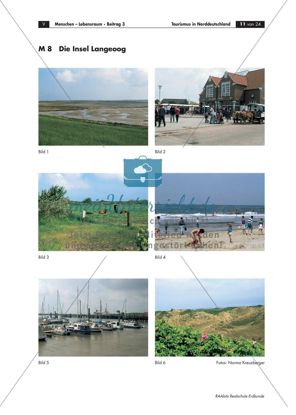 Tourismus in Norddeutschland - am Beispiel Langeoog: Die Landschaftsformen einer Düneninsel Preview 4