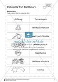 Deutsch, Themenfelder, Didaktik, Memory, Unterrichtsmethoden, bild-text-zuordnung, weihnachten