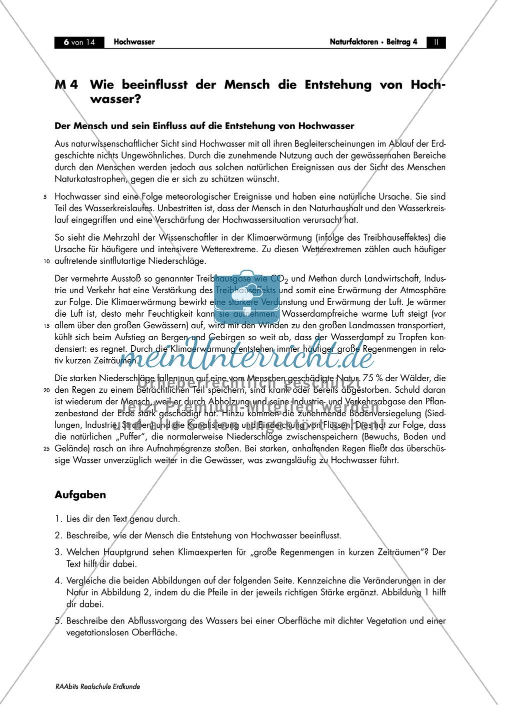 Hochwasser: Vermehrtes Auftreten von Hochwasserkatastrophen - Der Einflussfaktor Mensch + Schutzmaßnahmen Preview 0