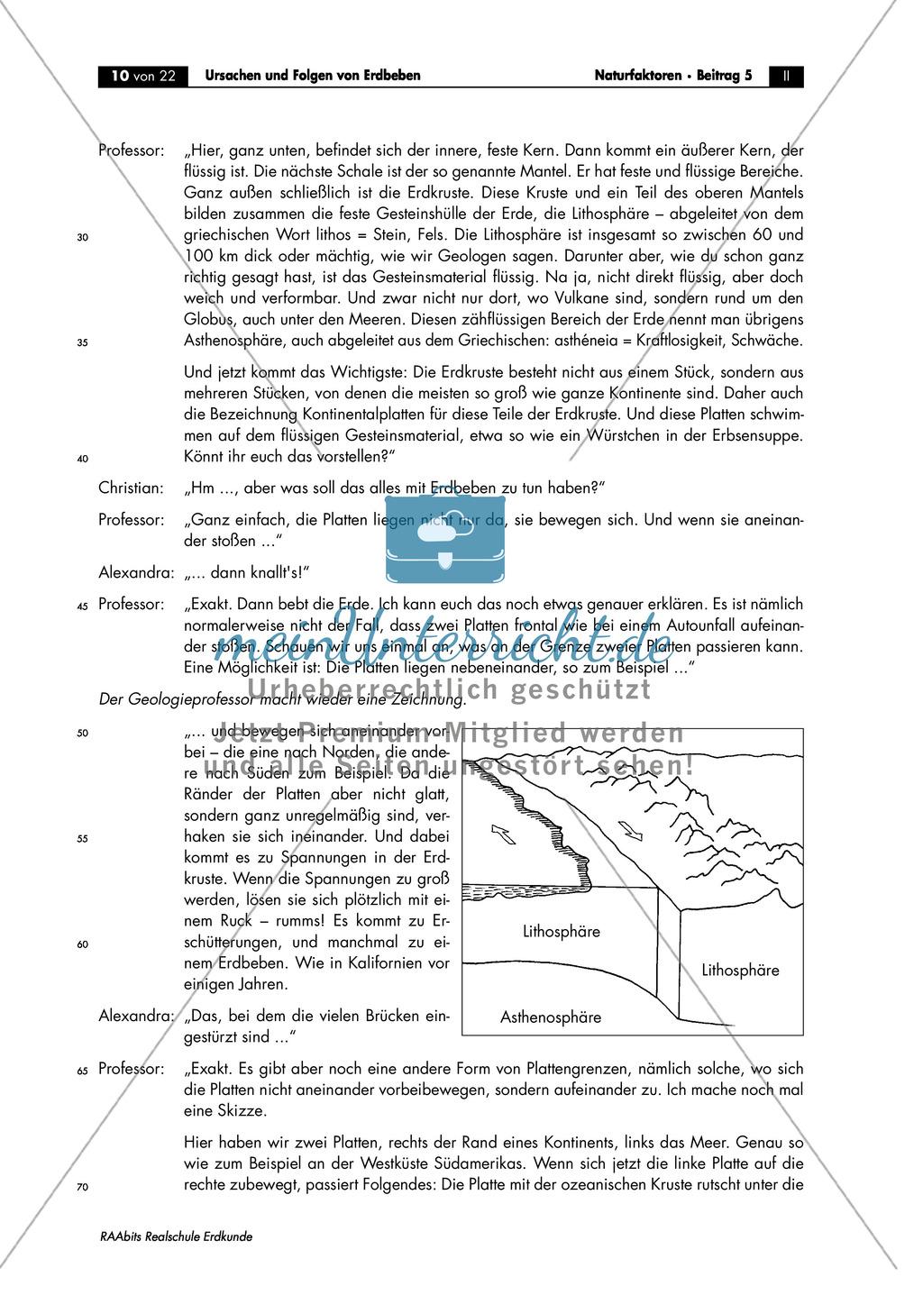 Erdbeben: Ursache endogener Vorgänge + Schalenaufbau der Erde Preview 1