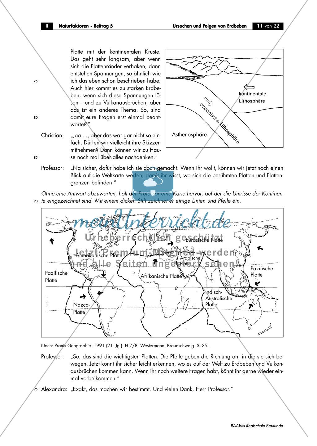 Erdbeben: Ursache endogener Vorgänge + Schalenaufbau der Erde ...