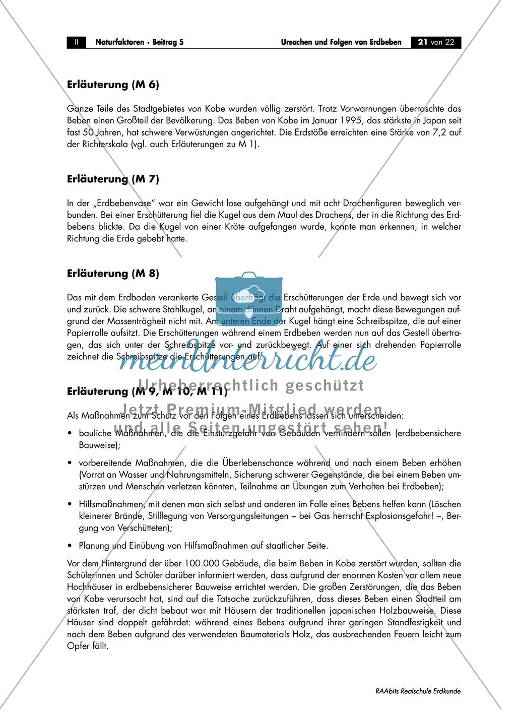 Erdbeben: Schutzmaßnahmen + Verhaltensregeln Preview 3