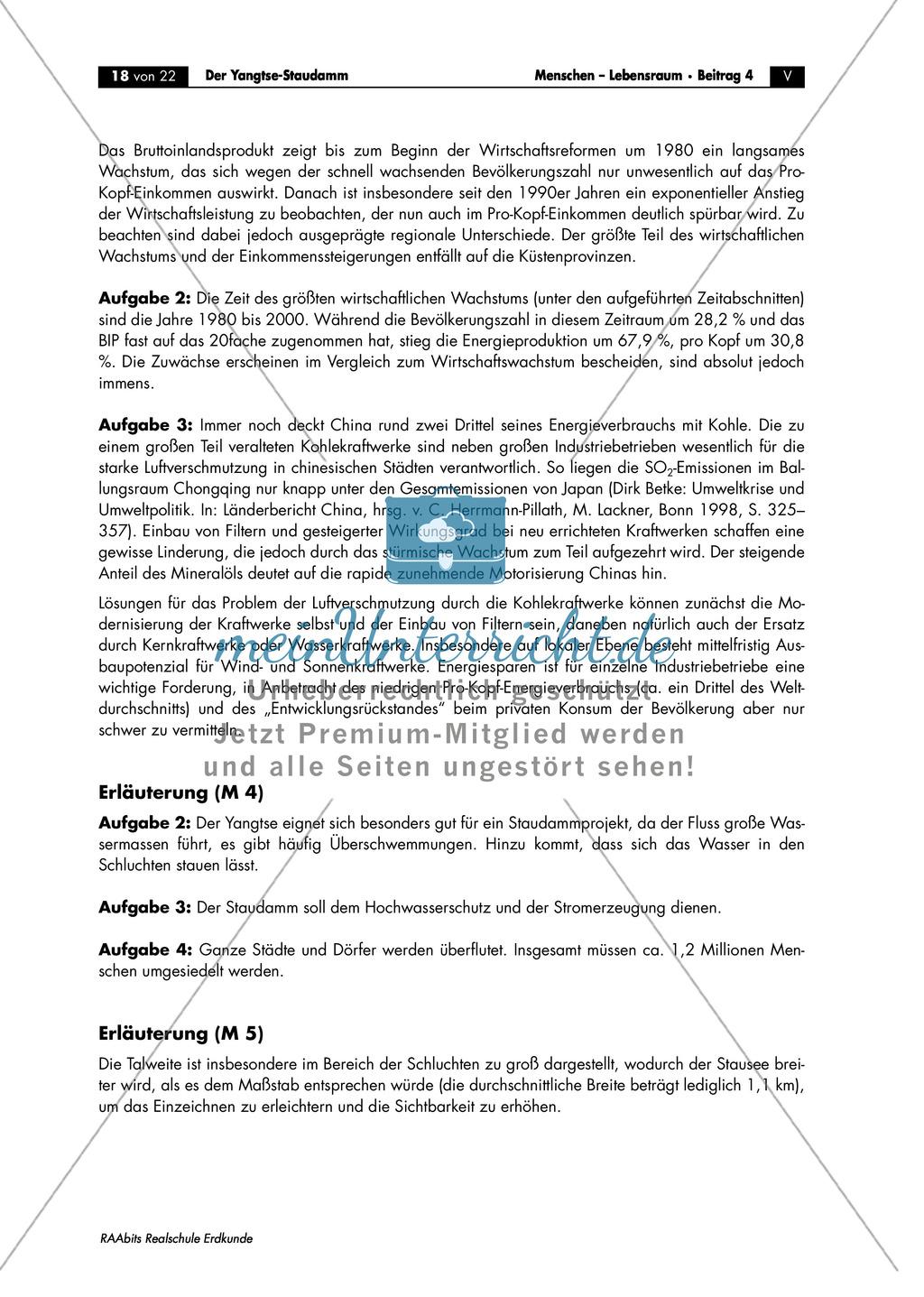 Das Drei-Schluchten-Projekt + der Yangtsestaudamm: Eingriff in den Naturhaushalt Preview 5