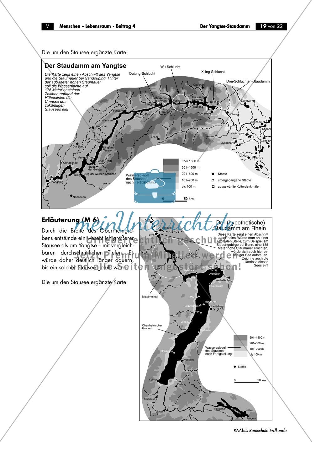 Das Drei-Schluchten-Projekt + der Yangtsestaudamm: Eingriff in den Naturhaushalt Preview 6