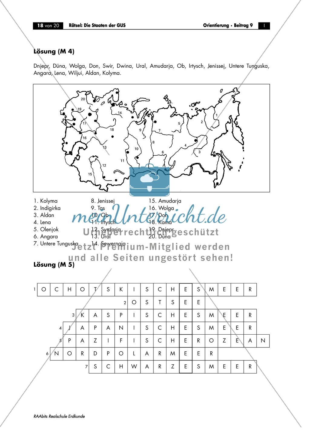 Die Gemeinschaft unabhängiger Staaten (GUS): Ströme + Meere Preview 4