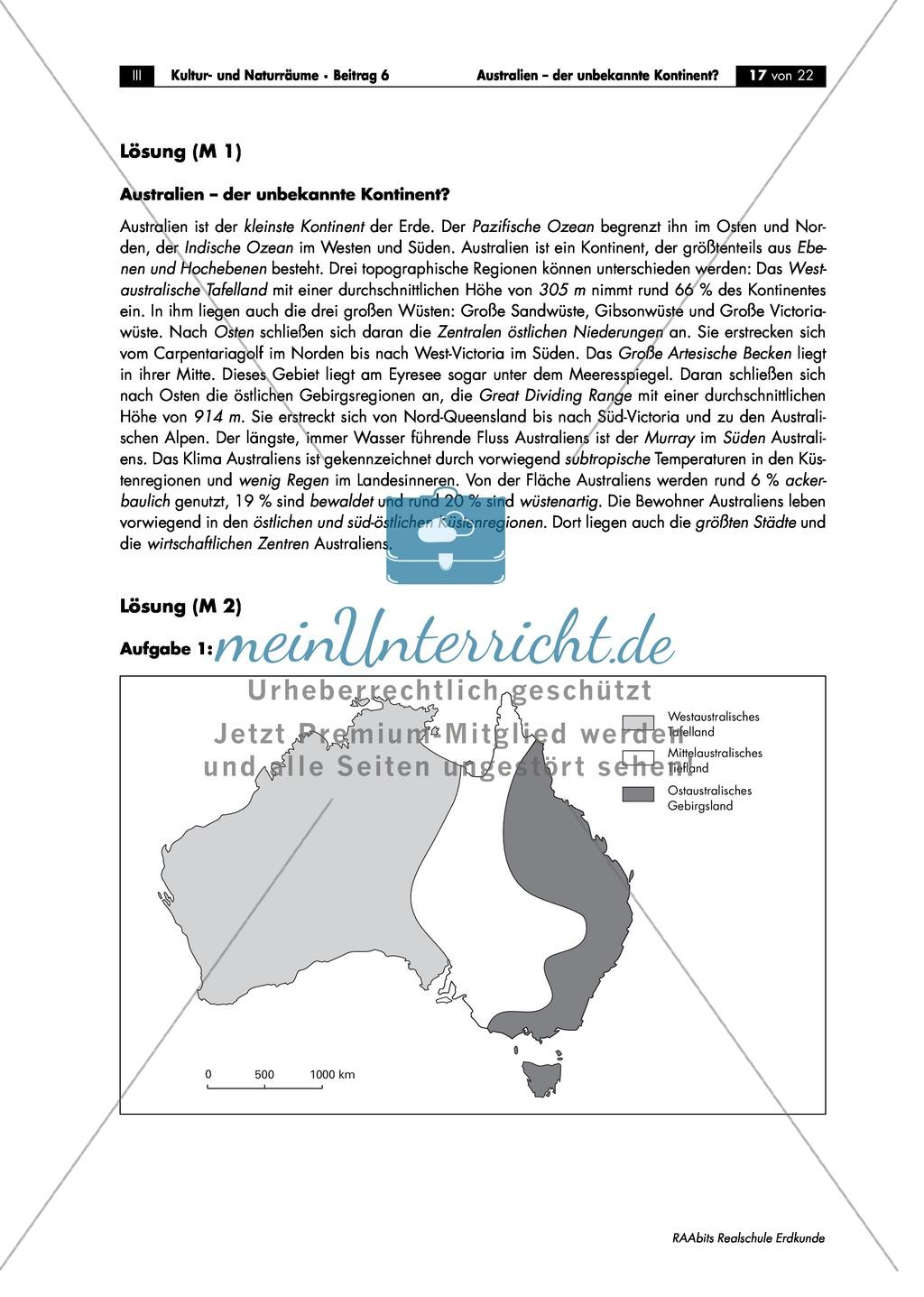 Der Kontinent Australien: Überblick - meinUnterricht