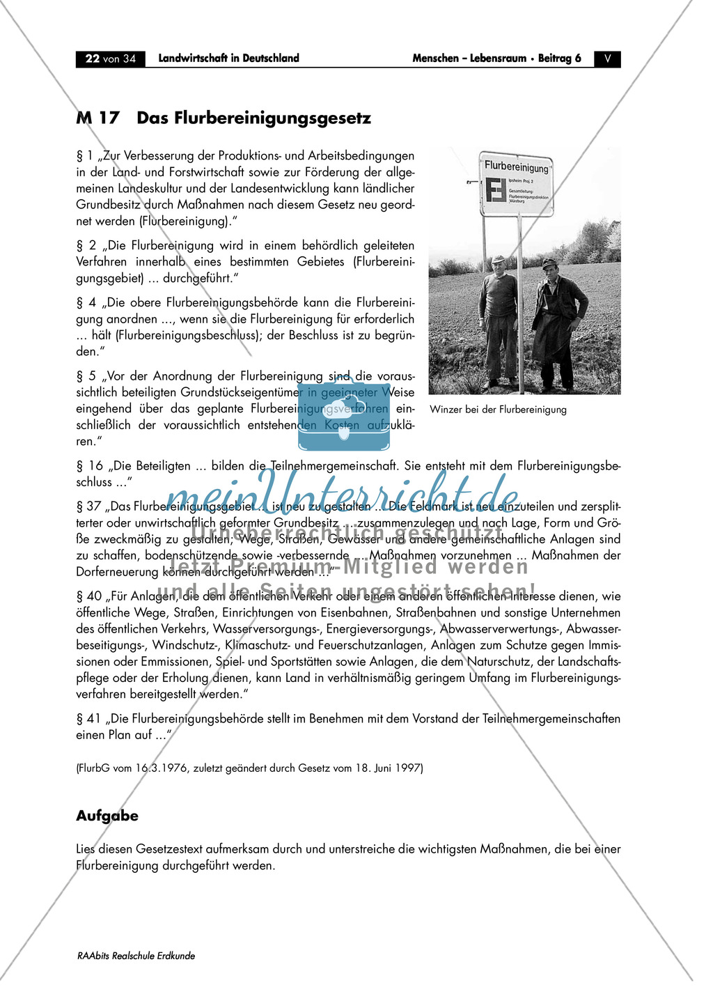 Landwirtschaft in Deutschland: Flurbereinigung Preview 1