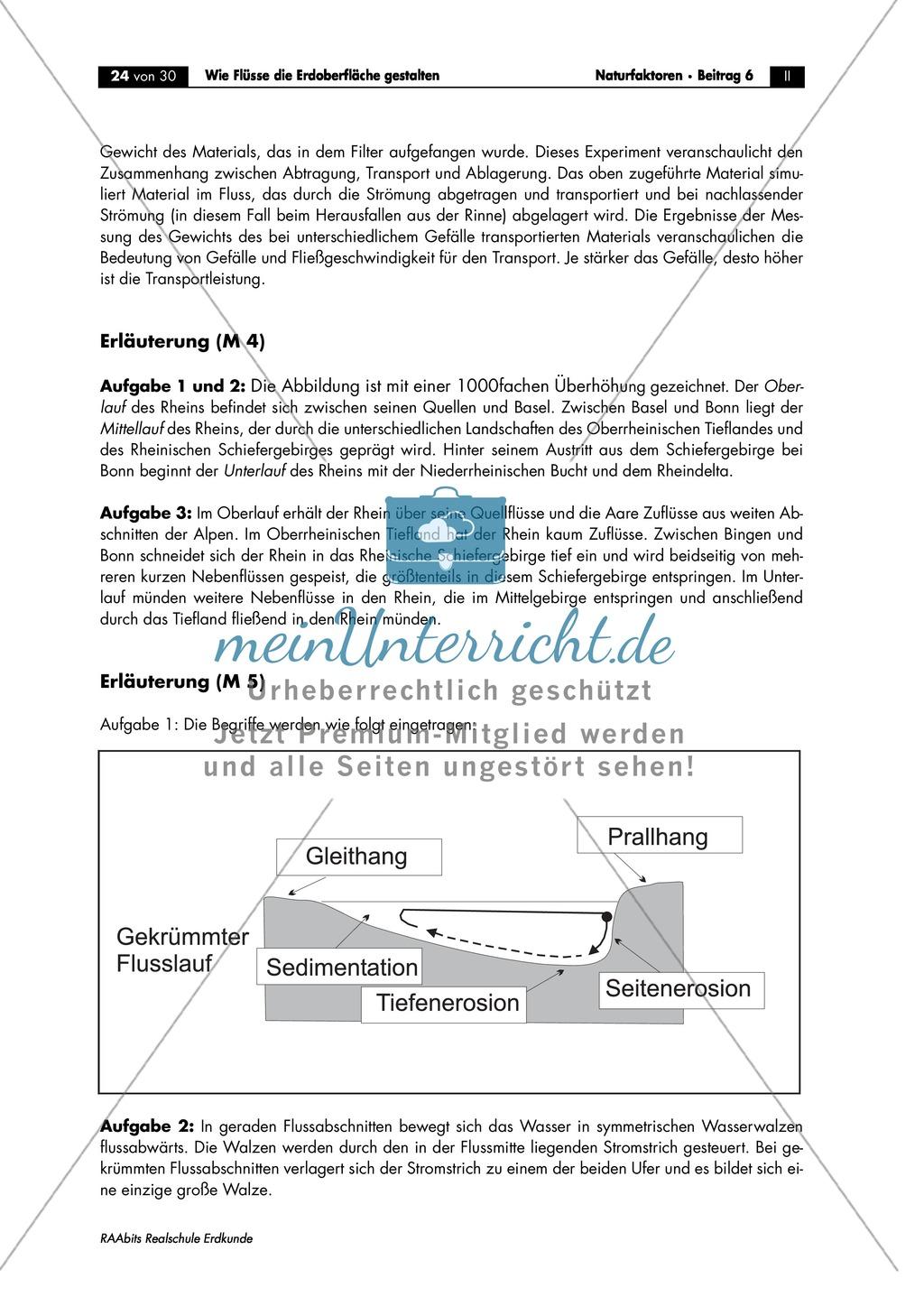Flussdynamik- und Morphologie am Beispiel des Rheins: Prall- und Gleithang + Mäander + Altarme + Talformen + Flussmündungen Preview 11