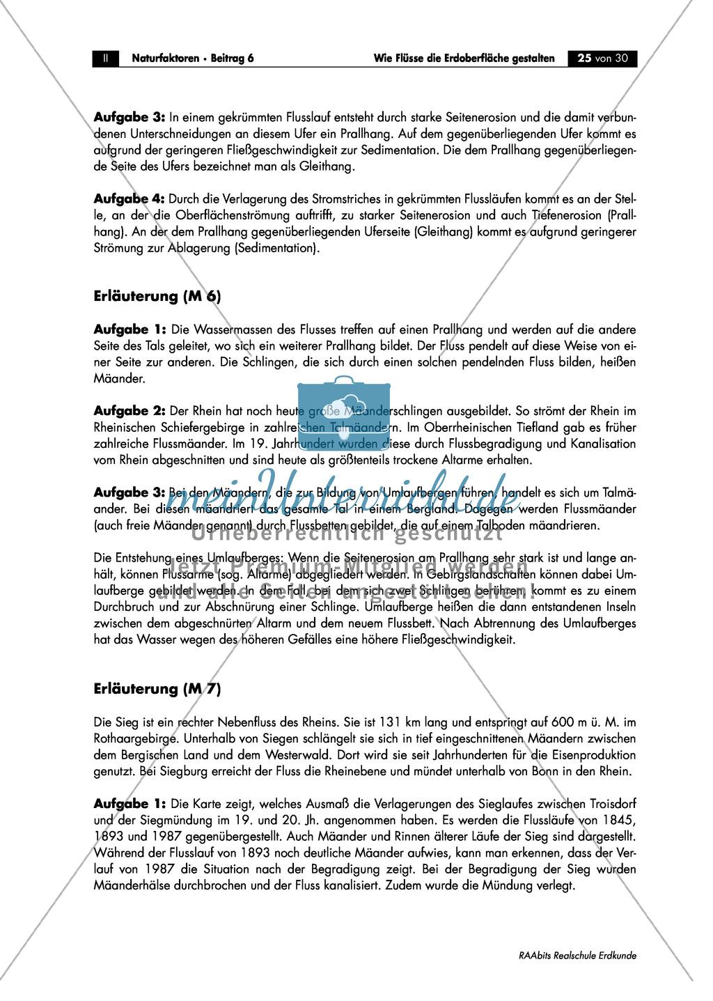 Flussdynamik- und Morphologie am Beispiel des Rheins: Prall- und Gleithang + Mäander + Altarme + Talformen + Flussmündungen Preview 12