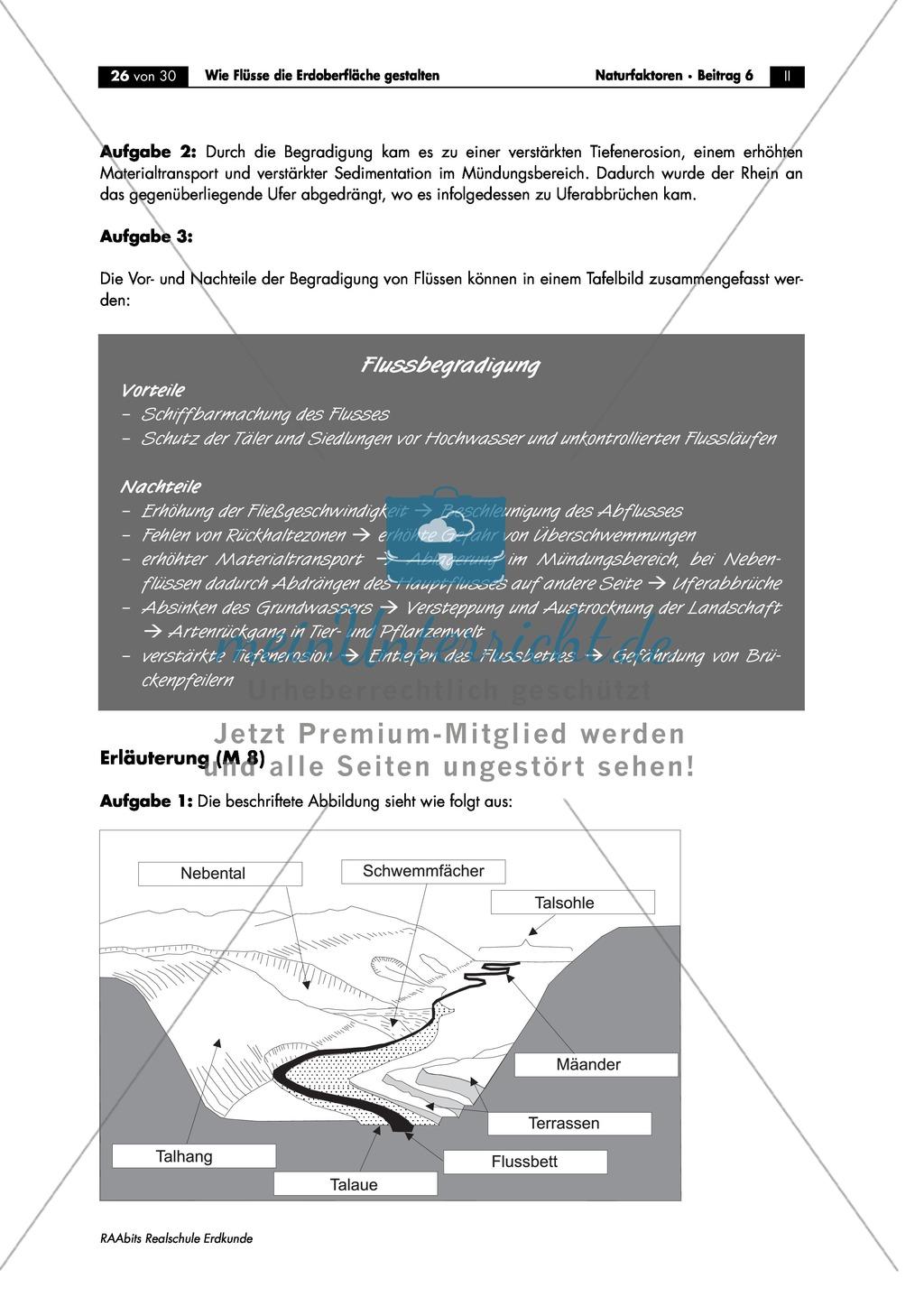 Flussdynamik- und Morphologie am Beispiel des Rheins: Prall- und Gleithang + Mäander + Altarme + Talformen + Flussmündungen Preview 13