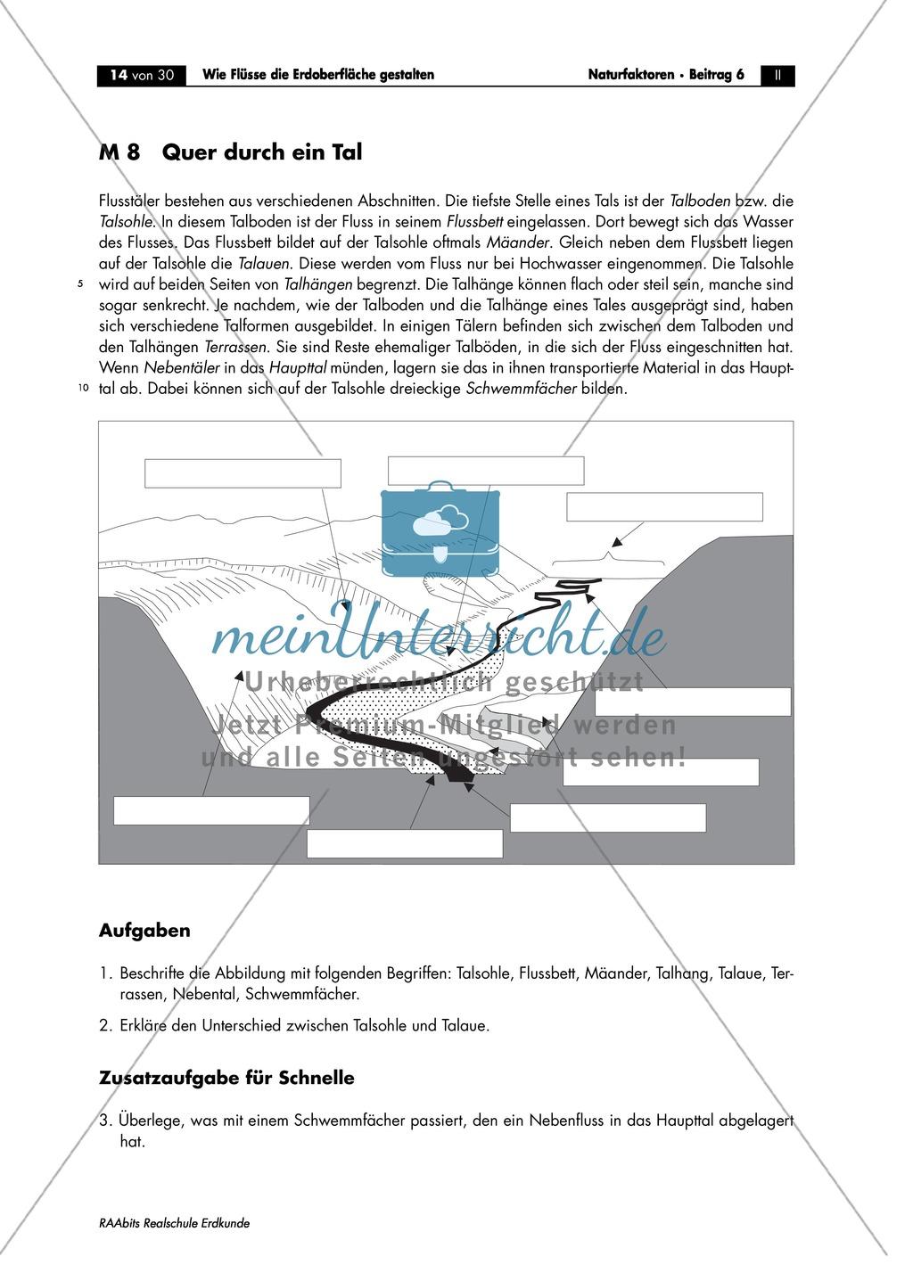 Flussdynamik- und Morphologie am Beispiel des Rheins: Prall- und Gleithang + Mäander + Altarme + Talformen + Flussmündungen Preview 6