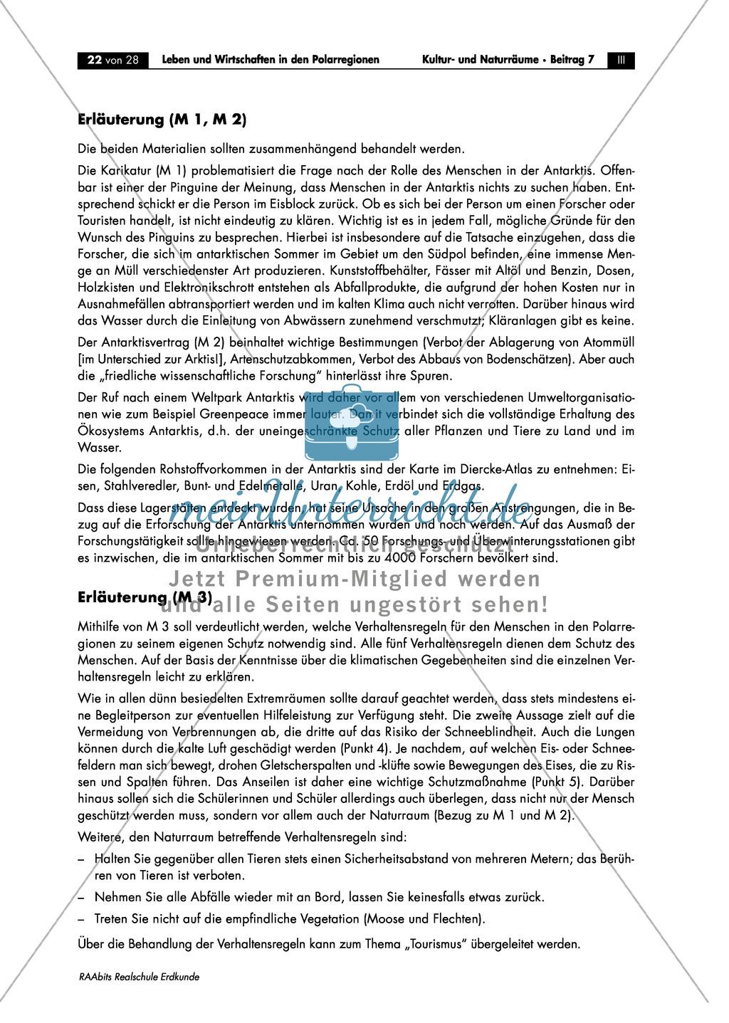 Leben + Wirtschaften in Polarregionen: Ökosystem + Antarktisvertrag ...