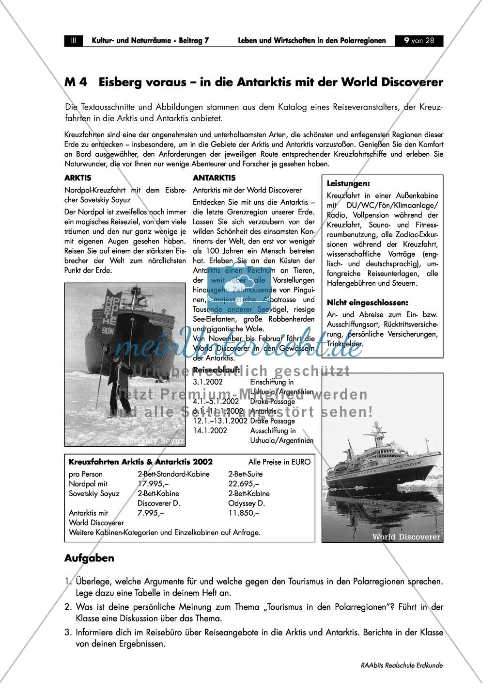 Leben + Wirtschaften in Polarregionen: Tourismus + Umwelt Preview 1