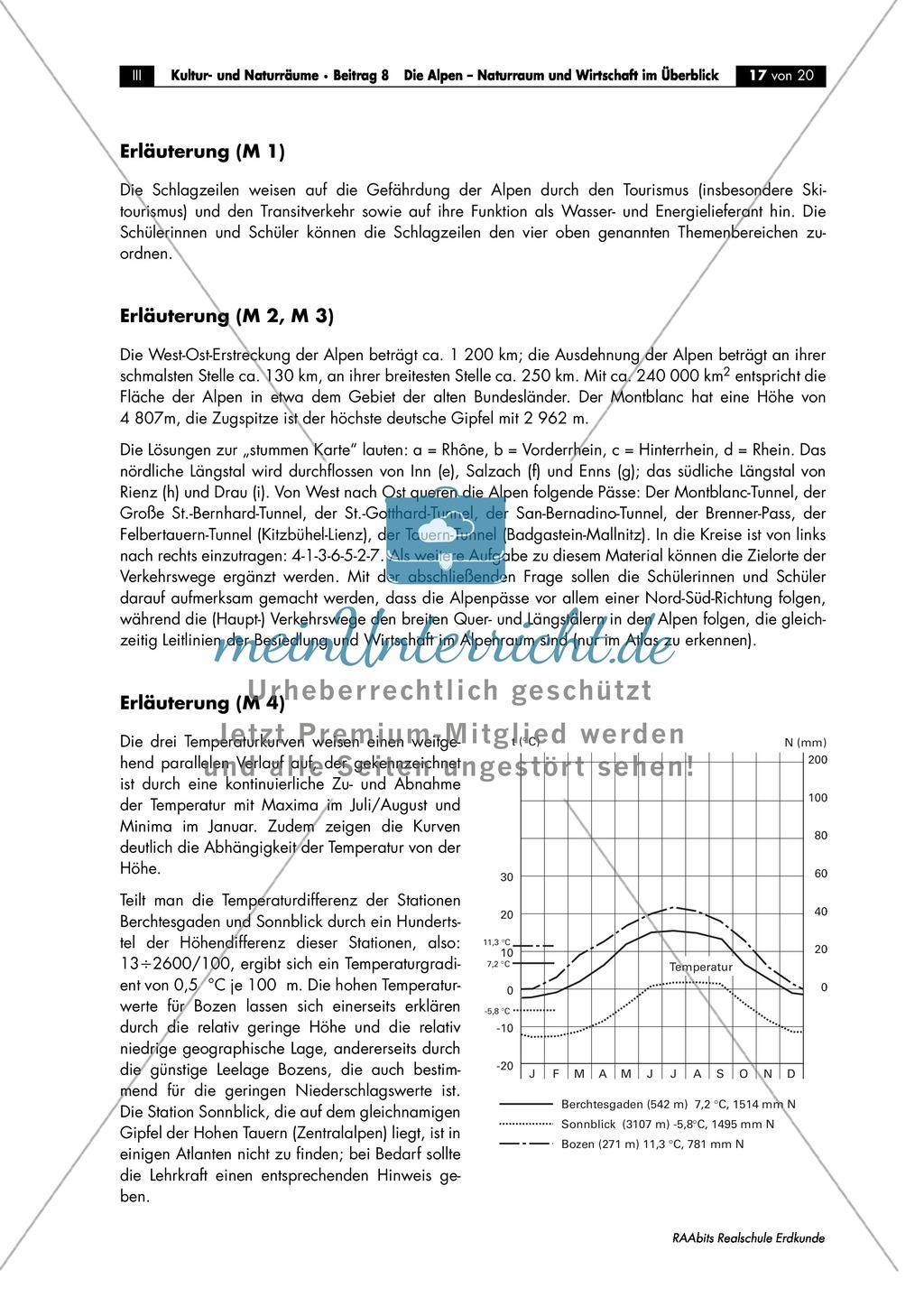 Naturraum + Wirtschaft der Alpen: Klima + Vegetation- und Höhenstufen Preview 5