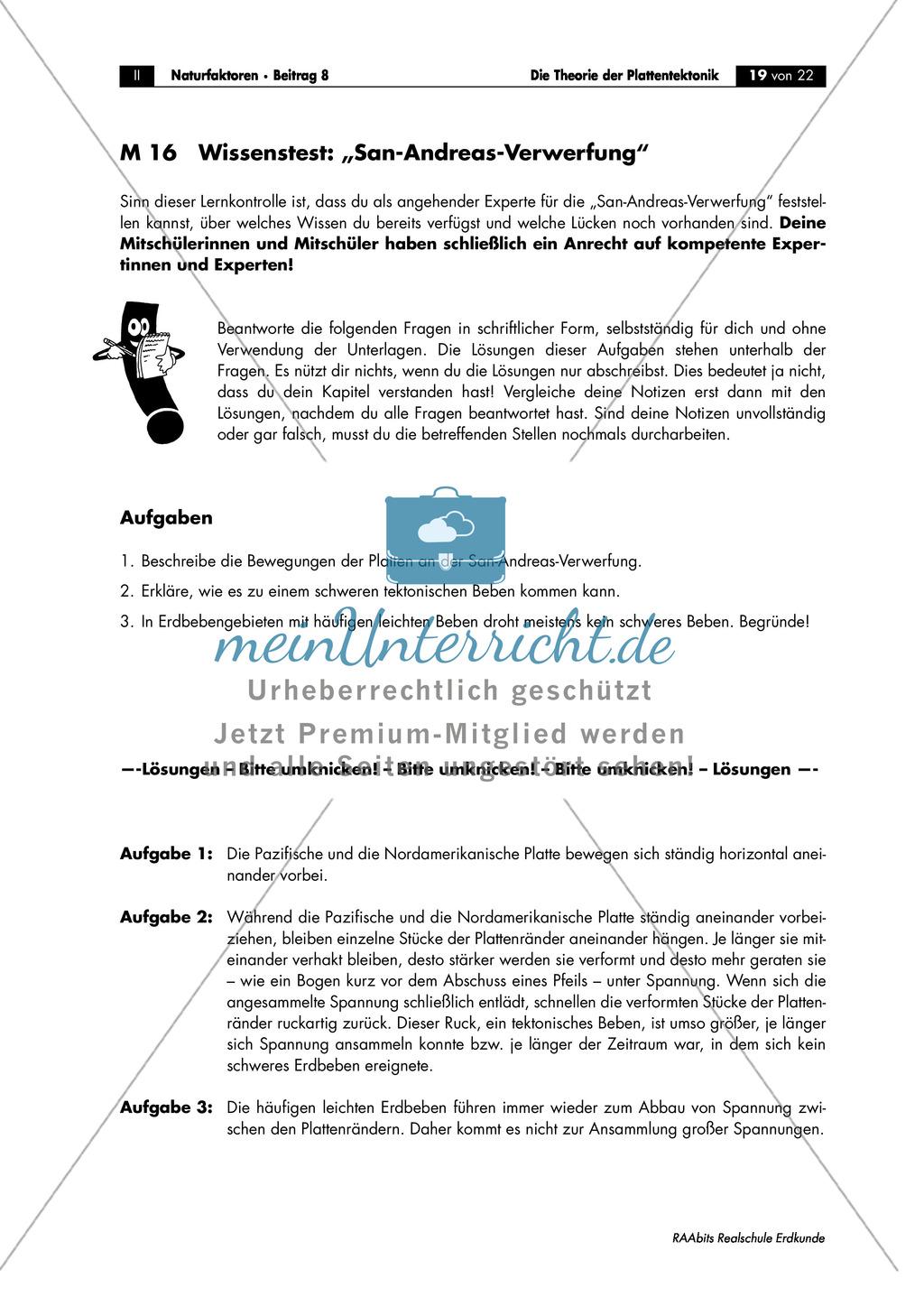 Plattentektonik: Raumbeispiele anhand von Gruppenarbeit Preview 9